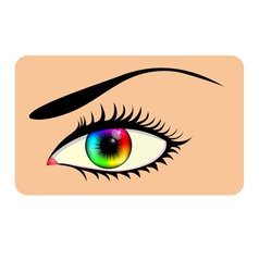 Rainbow eye vector image vector image