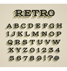 Wide retro dimensional characters set vector image vector image