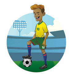 young soccer player vector image vector image