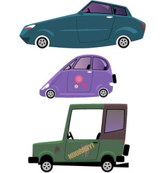 Cartoon cars set isolated on white vector image