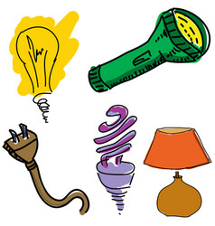 Drawn light equipment vector