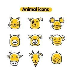 Hand drawn animal - icons vector image vector image