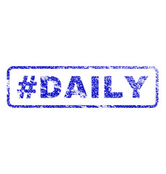 hashtag daily rubber stamp vector image vector image