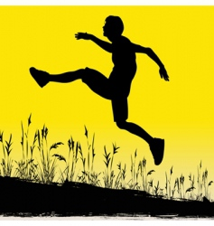 jumping for joy vector image