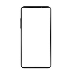 modern frameless smartphone with a white blank vector image