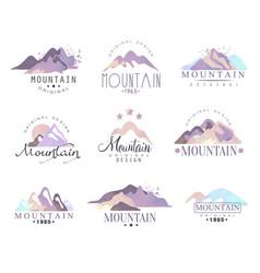 mountain original logo design since 1965 year vector image vector image