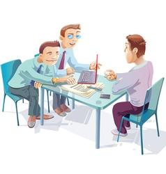 Negotiations vector image