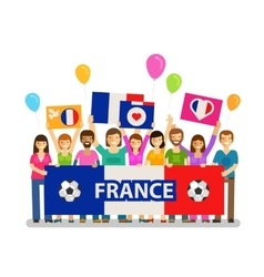 Soccer championship sport icon Fans of France vector image vector image