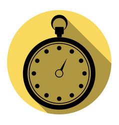 stopwatch sign flat black vector image