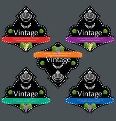 wine labels12 vector image
