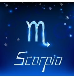 01 Scorpio horoscope sign vector image