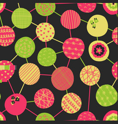 Abstract colorful seamless pattern pink vector