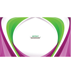 abstract green purple white background vector image