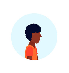 African american man profile avatar isolated male vector