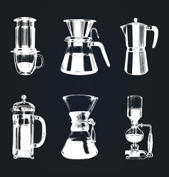 Alternative coffee brewing vector