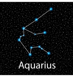Aquarius Zodiac sign bright stars vector image