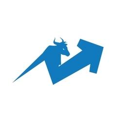 Arrow direction increase bull profit icon vector