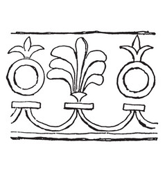 Assyrian ornament is a used for decoration vector