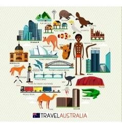 Australia Travel Set vector