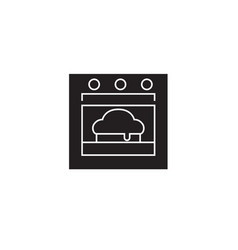 baking pie black concept icon baking pie vector image