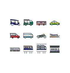 bangkok public transportation 002 vector image