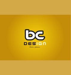 Bc b c alphabet letter combination digit white on vector