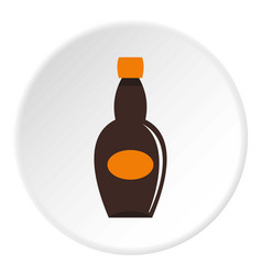 Big bottle icon circle vector