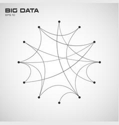 Big data visualization algorithms with arc vector