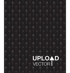 black upload background vector image
