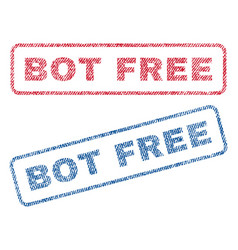 Bot free textile stamps vector