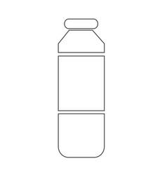 bottle juice icon vector image