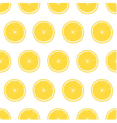 bright seamless pattern with lemon vector image