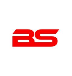 bs letter logo vector image
