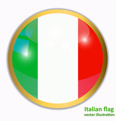 button with flag of italia vector image