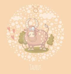 Cartoon bull taurus vector