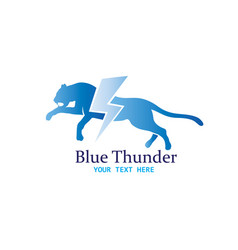 cheetah thunder logo vector image