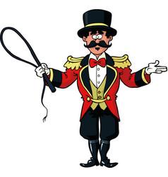 Circus ring master vector