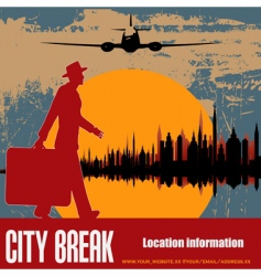 city break vector image