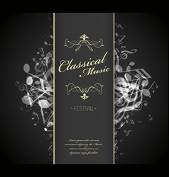 classical music festival advertising poster vector image