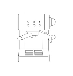 Coffee espresso machine path vector image