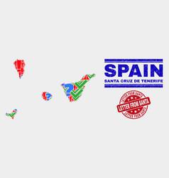 Collage santa cruz de tenerife province map vector