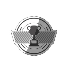 Cup trophy championship vector image