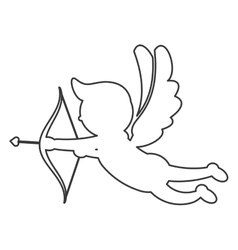 Cupid silhouette icon vector