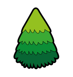 Cute christmas tree cartoon vector