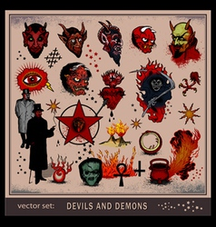devils and demons vector image vector image