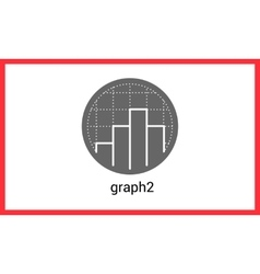 Diagram contour outline icon vector image