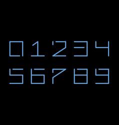 digital numbers on black background simple vector image