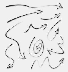 Doodle Sketch Arrows vector
