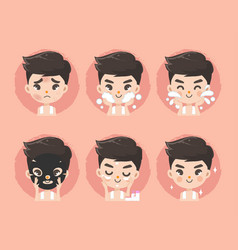 Facial skin for men vector