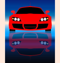 fast car front end vector image